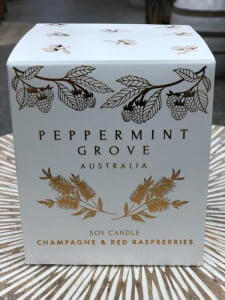 peppermint grove champagne and red raspberries